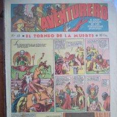 Tebeos: AVENTURERO Nº 43 DEL 3 DE MARZO DE 1936 8 HOJAS. Lote 194783007