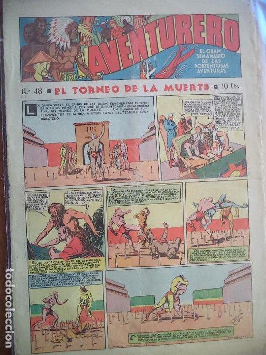 AVENTURERO Nº 48 DEL 7 ABRIL DE 1936 OCHO HOJAS (Tebeos y Comics - Hispano Americana - Aventurero)