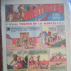 Tebeos: AVENTURERO Nº 48 DEL 7 ABRIL DE 1936 OCHO HOJAS. Lote 194783663