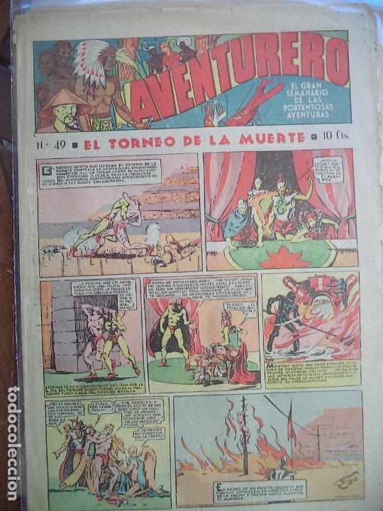 AVENTURERO Nº 49 DEL 14 DE ABRIL DE 1939 OCHO HOJAS (Tebeos y Comics - Hispano Americana - Aventurero)