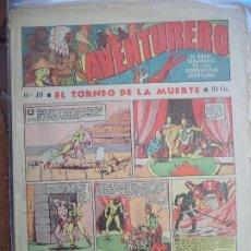 Tebeos: AVENTURERO Nº 49 DEL 14 DE ABRIL DE 1939 OCHO HOJAS. Lote 194783847