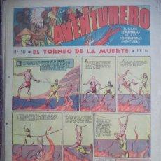 Tebeos: AVENTURERO Nº 50 DEL21 DE ABRIL DE 1936 OCHO PAGINAS . Lote 194784020