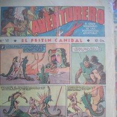 Tebeos: AVENTURERO Nº 58 DEL16 DE JUNIO DE 1936 OCHO HOJAS. Lote 194784291