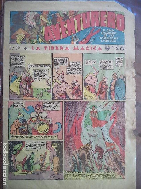 AVENTURERO Nº 59 DEL23 DE JUNIO DE 1936 8 HOJAS (Tebeos y Comics - Hispano Americana - Aventurero)