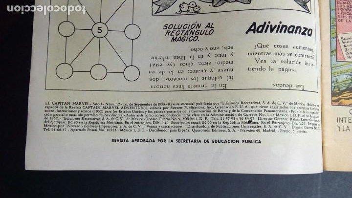 Tebeos: EL CAPITAN MARVEL NUM. 12 1953 EDICIONES RECREATIVAS - Foto 4 - 195156212