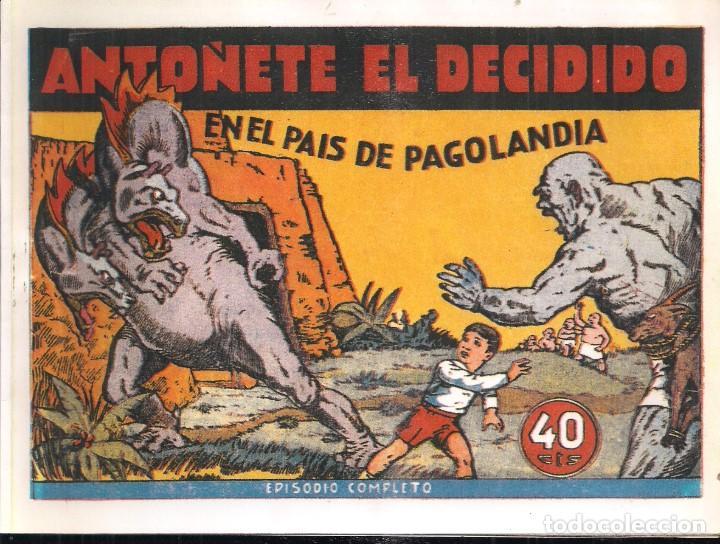 INFANTIL DE LAS GRANDES AVENTURAS ANTOÑETE EL DECIDIDO Nº 1 EN EL PAIS DE PAGOLANDIA (Tebeos y Comics - Hispano Americana - Otros)
