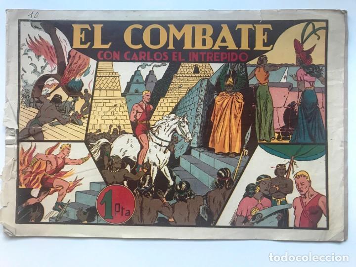 EL COMBATE CON CARLOS EL INTREPIDO . HISPANO AMERICANA (Tebeos y Comics - Hispano Americana - Carlos el Intrépido)