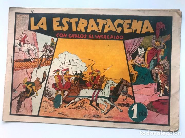 LA ESTRATAGEMA CON CARLOS EL INTREPIDO . HISPANO AMERICANA (Tebeos y Comics - Hispano Americana - Carlos el Intrépido)