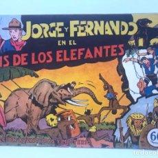 Tebeos: JORGE Y FERNANDO EN EL PAIS DE LOS ELEFANTES. COLECCION AVENTURAS Y MISTERIO. HISPANO AMERICANA . Lote 195299895
