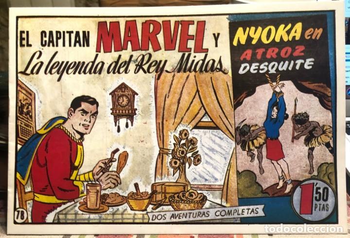 EL CAPITAN MARVEL Nº 78 LA LEYENDA DEL REY MIDAS. FACSIMIL. HISPANO AMERICANA. (Tebeos y Comics - Hispano Americana - Capitán Marvel)