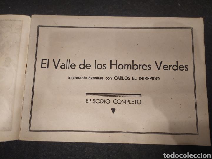 Tebeos: Carlos el intrépido, numero 6. El Valle de los Hombres Verdes. Original. Hispano america - Foto 2 - 195975008