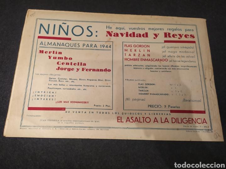 Tebeos: El Jinete Enmascarado. La Voz del Idolo. Hispano América. Original años 40. - Foto 3 - 195985056