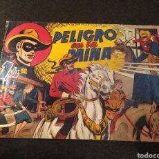 Tebeos: PELIGRO EN LA MINA . EL JINETE ENMASCARADO. HISPANO AMÉRICA. ORIGINAL AÑOS '40. Lote 195985788