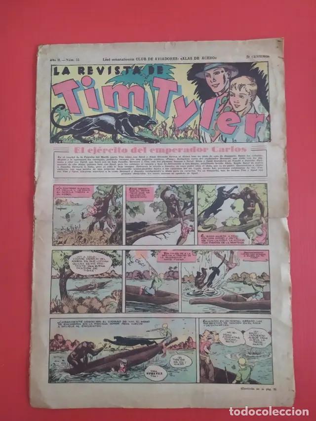 ANTIGUO TEBEO COMIC SERIE TIM TYLER AÑOS 30 NÚMERO 55. 18 DE JUNIO DE 1937 (Tebeos y Comics - Hispano Americana - Tim Tyler)