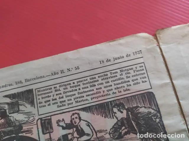Tebeos: Antiguo tebeo comic serie Tim Tyler años 30 número 55. 18 de junio de 1937 - Foto 4 - 196157328