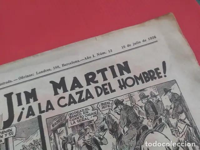 Tebeos: Antiguo tebeo comic serie Tim Tyler años 30 número 13. 16 de julio de 1936 - Foto 4 - 196157488