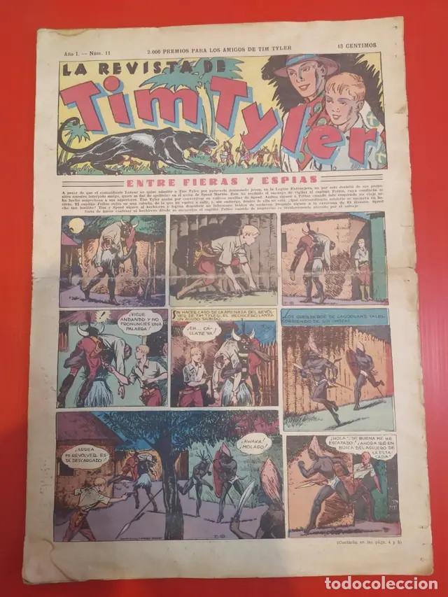 ANTIGUO TEBEO COMIC SERIE TIM TYLER AÑOS 30 NÚMERO 11. 2 DE JULIO DE 1936 (Tebeos y Comics - Hispano Americana - Tim Tyler)