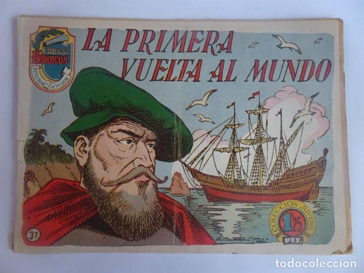 ANTIGUO COMIC TIEMPOS HEROICOS 31, LA PRIMERA VUELTA AL MUNDO, HISPANO AMERICANA ,VER FOTOS (Tebeos y Comics - Hispano Americana - Otros)
