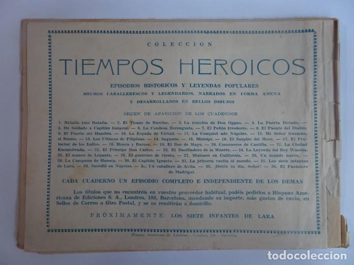 Tebeos: ANTIGUO COMIC TIEMPOS HEROICOS 31, LA PRIMERA VUELTA AL MUNDO, HISPANO AMERICANA ,VER FOTOS - Foto 6 - 197072550