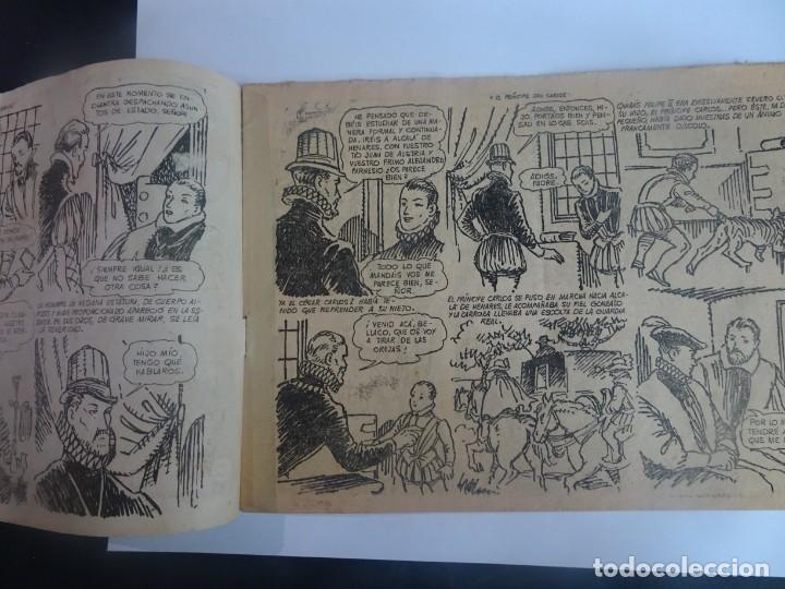 Tebeos: ANTIGUO COMIC TIEMPOS HEROICOS 22, EL PRÍNCIPE DON CARLOS, HISPANO AMERICANA ,VER FOTOS - Foto 4 - 197072951