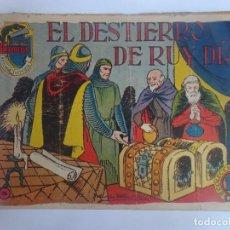 Tebeos: ANTIGUO COMIC TIEMPOS HEROICOS 44, EL DESTIERRO DE RUY DÍAZ , HISPANO AMERICANA ,VER FOTOS. Lote 197073110