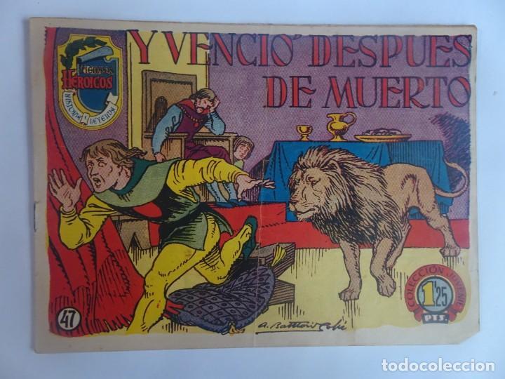 ANTIGUO COMIC TIEMPOS HEROICOS 47, Y VENCIÓ DESPUÉS DE MUERTO, HISPANO AMERICANA ,VER FOTOS (Tebeos y Comics - Hispano Americana - Otros)
