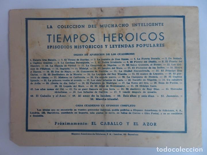 Tebeos: ANTIGUO COMIC TIEMPOS HEROICOS 47, Y VENCIÓ DESPUÉS DE MUERTO, HISPANO AMERICANA ,VER FOTOS - Foto 6 - 197073188
