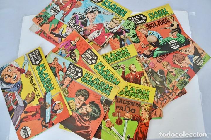 GRAN LOTE 39 NÚMEROS. FLASH GORDON. COLECCIÓN HÉROES MODERNOS. SERIE B. EDITORIAL DOLAR. MADRID,1958 (Tebeos y Comics - Hispano Americana - Flash Gordon)