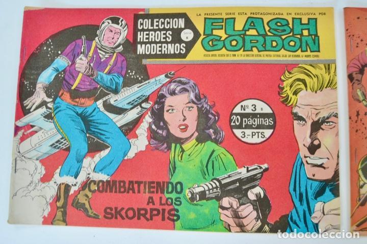Tebeos: Gran Lote 39 Números. Flash Gordon. Colección Héroes Modernos. Serie B. Editorial Dolar. Madrid,1958 - Foto 3 - 197234570