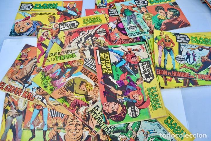 Tebeos: Gran Lote 39 Números. Flash Gordon. Colección Héroes Modernos. Serie B. Editorial Dolar. Madrid,1958 - Foto 8 - 197234570
