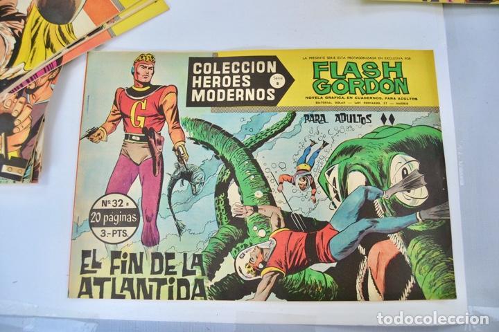 Tebeos: Gran Lote 39 Números. Flash Gordon. Colección Héroes Modernos. Serie B. Editorial Dolar. Madrid,1958 - Foto 9 - 197234570