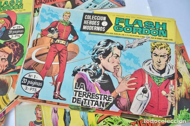 Tebeos: Gran Lote 39 Números. Flash Gordon. Colección Héroes Modernos. Serie B. Editorial Dolar. Madrid,1958 - Foto 10 - 197234570