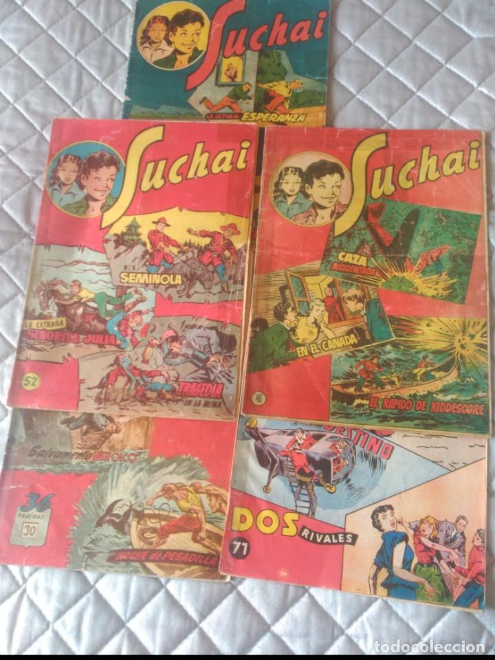 SUCHAI.LOTE DE 5 TEBEOS.Nº 30-39-52-46-71HISPANOAMERICANA.ORIGINALES (Tebeos y Comics - Hispano Americana - Suchai)