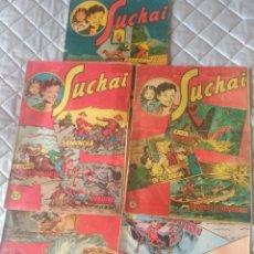 Tebeos: SUCHAI.LOTE DE 5 TEBEOS.Nº 30-39-52-46-71HISPANOAMERICANA.ORIGINALES. Lote 197314345