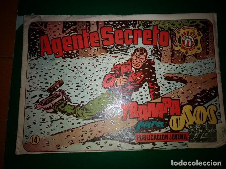AGENTE SECRETO HISPANO AMERICANA Nº 14 ORIGINAL AÑO 1958- MEL GRAFF (Tebeos y Comics - Hispano Americana - Otros)