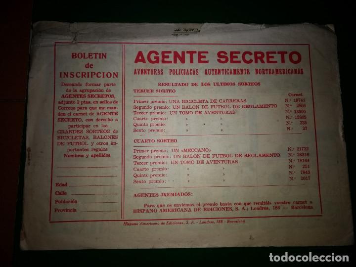 Tebeos: AGENTE SECRETO HISPANO AMERICANA nº 14 original año 1958- MEL GRAFF - Foto 2 - 197632220