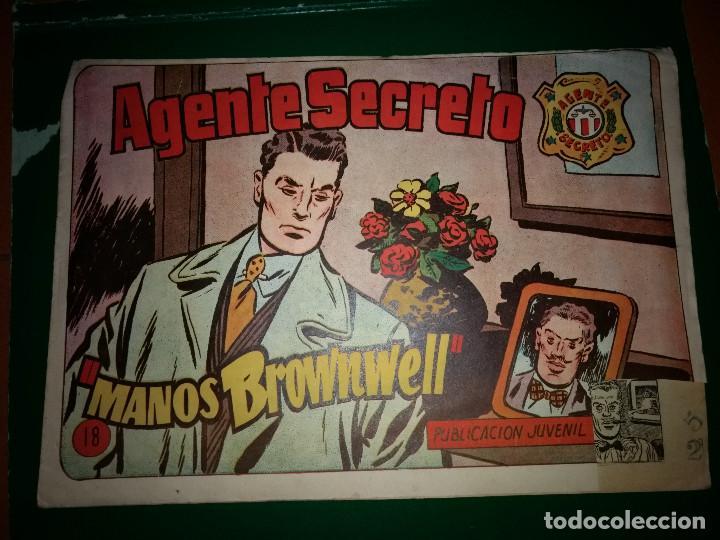 AGENTE SECRETO HISPANO AMERICANA Nº 18 ORIGINAL AÑO 1958- MEL GRAFF (Tebeos y Comics - Hispano Americana - Otros)