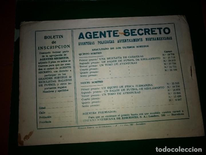 Tebeos: AGENTE SECRETO HISPANO AMERICANA nº 18 original año 1958- MEL GRAFF - Foto 2 - 197632353