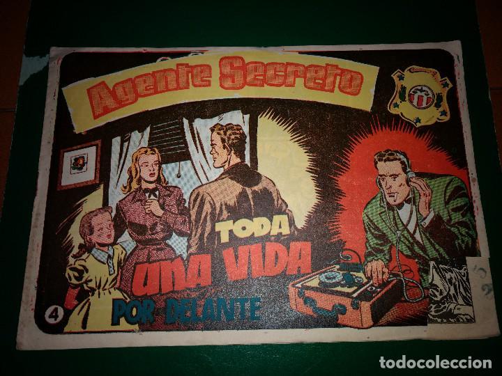 AGENTE SECRETO HISPANO AMERICANA Nº 4 ORIGINAL AÑO 1958- MEL GRAFF (Tebeos y Comics - Hispano Americana - Otros)