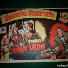 Tebeos: AGENTE SECRETO HISPANO AMERICANA Nº 4 ORIGINAL AÑO 1958- MEL GRAFF. Lote 197632848