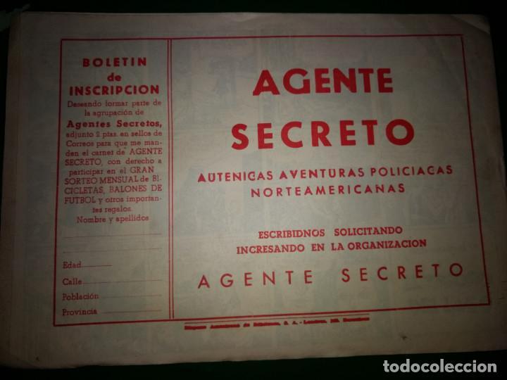 Tebeos: AGENTE SECRETO HISPANO AMERICANA nº 4 original año 1958- MEL GRAFF - Foto 2 - 197632848