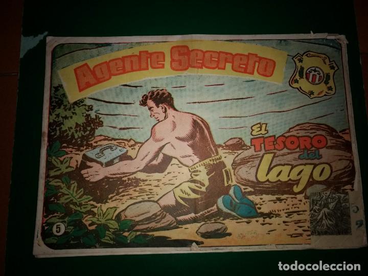 AGENTE SECRETO HISPANO AMERICANA Nº 5 ORIGINAL AÑO 1958- MEL GRAFF (Tebeos y Comics - Hispano Americana - Otros)
