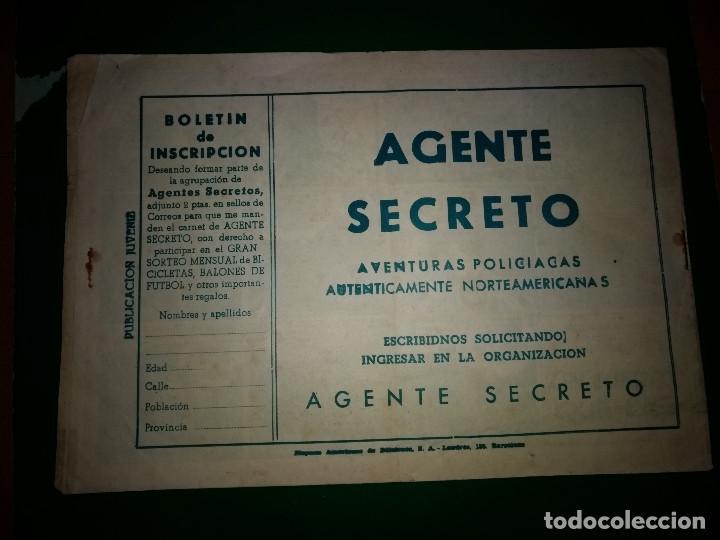 Tebeos: AGENTE SECRETO HISPANO AMERICANA nº 5 original año 1958- MEL GRAFF - Foto 2 - 197632898
