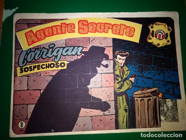AGENTE SECRETO HISPANO AMERICANA Nº 8 ORIGINAL AÑO 1958- MEL GRAFF (Tebeos y Comics - Hispano Americana - Otros)