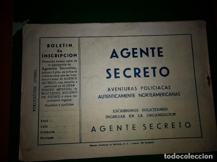 Tebeos: AGENTE SECRETO HISPANO AMERICANA nº 8 original año 1958- MEL GRAFF - Foto 2 - 197633075