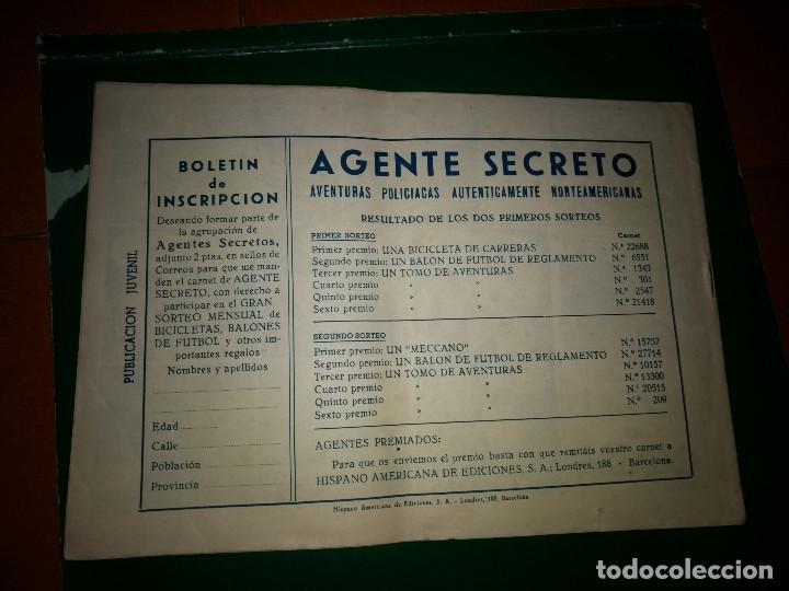 Tebeos: AGENTE SECRETO HISPANO AMERICANA nº 9 original año 1958- MEL GRAFF - Foto 2 - 197633158