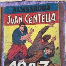 Tebeos: ALMANAQUE JUAN CENTELLA Y JORGE FERNANDO 1947 TAPAS DE CARTON MUY BUEN ESTADO 1. Lote 200875426