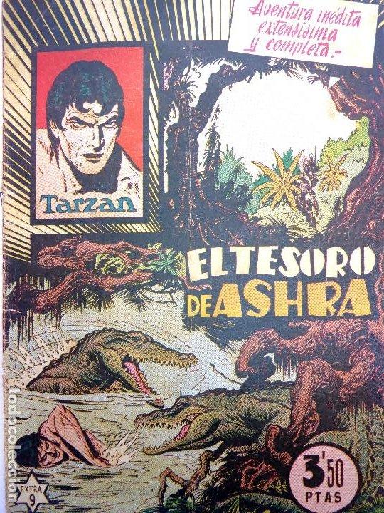 COM-200. TARZÁN. EL TEMPLO DE ASHRA. EXTRA 9. ORIGINAL. HISPANO AMERICANA DE EDICIONES. AÑOS 40 (Tebeos y Comics - Hispano Americana - Tarzán)