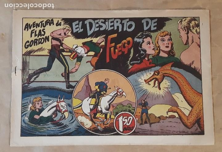FLAS GORDON (1,50 PTS.) - HISPANO AMERICANA / NÚMERO 9 (EL DESIERTO DE FUEGO) (Tebeos y Comics - Hispano Americana - Flash Gordon)