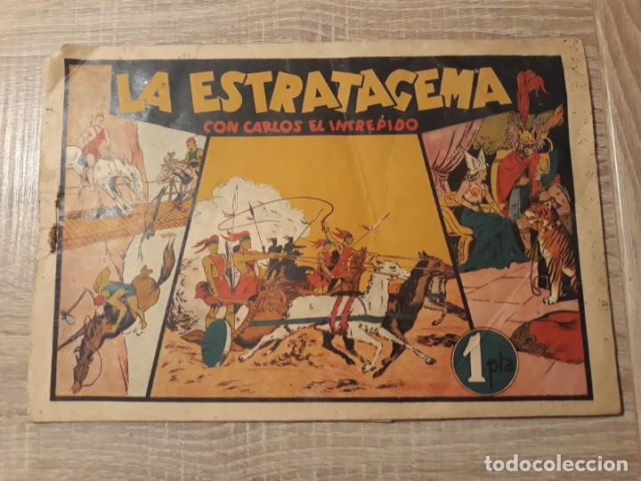 LA ESTRATAGEMA CON CARLOS EL INTREPIDO.1 PTA (Tebeos y Comics - Hispano Americana - Otros)